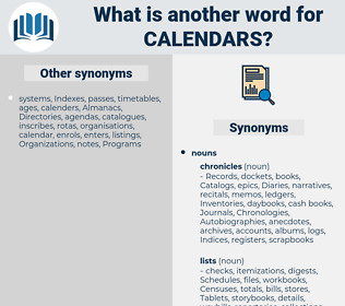 calendars, synonym calendars, another word for calendars, words like calendars, thesaurus calendars
