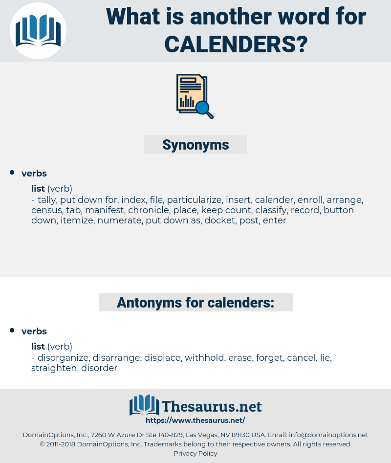 calenders, synonym calenders, another word for calenders, words like calenders, thesaurus calenders