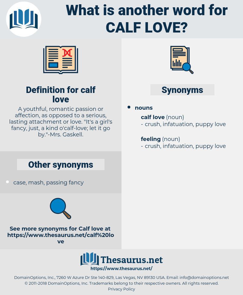 calf love, synonym calf love, another word for calf love, words like calf love, thesaurus calf love