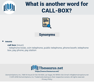 call box, synonym call box, another word for call box, words like call box, thesaurus call box