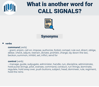 call signals, synonym call signals, another word for call signals, words like call signals, thesaurus call signals
