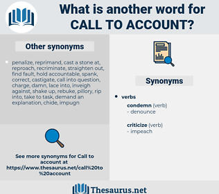 call to account, synonym call to account, another word for call to account, words like call to account, thesaurus call to account