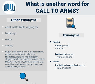 call to arms, synonym call to arms, another word for call to arms, words like call to arms, thesaurus call to arms