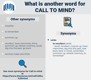 call to mind, synonym call to mind, another word for call to mind, words like call to mind, thesaurus call to mind