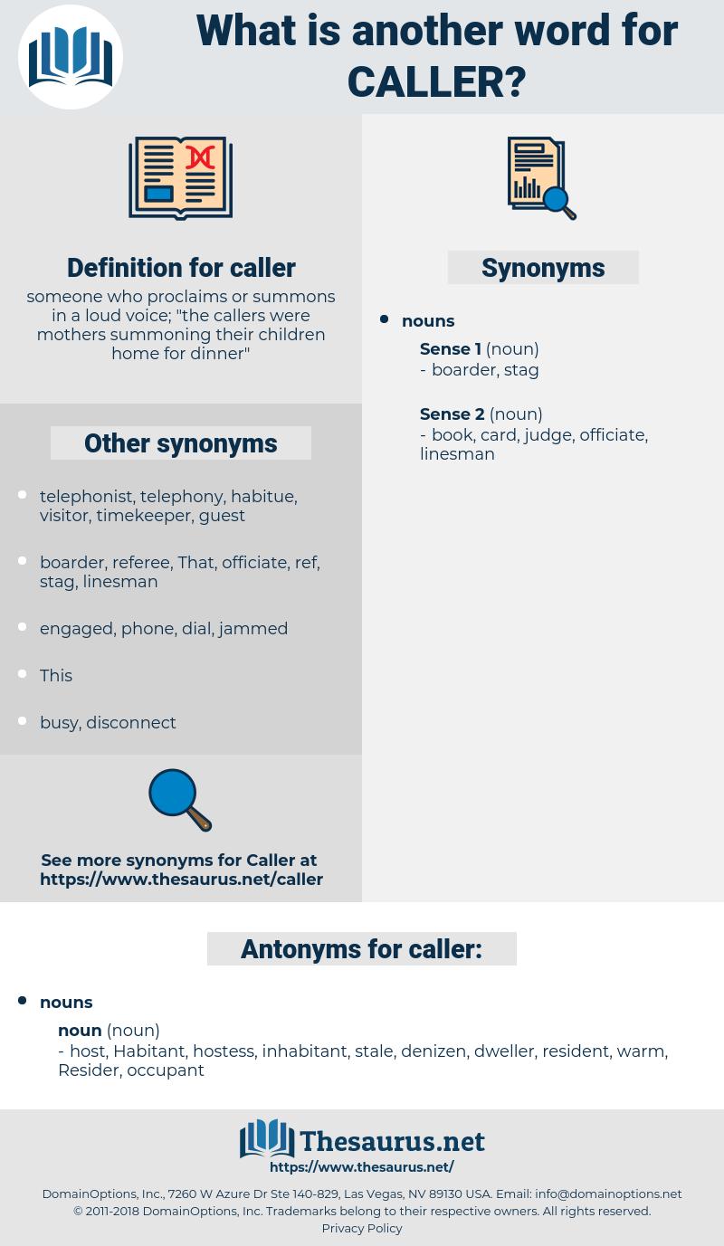 caller, synonym caller, another word for caller, words like caller, thesaurus caller