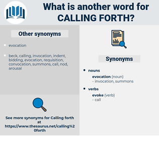 calling forth, synonym calling forth, another word for calling forth, words like calling forth, thesaurus calling forth