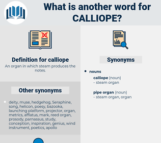 calliope, synonym calliope, another word for calliope, words like calliope, thesaurus calliope