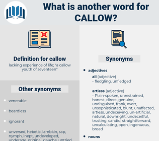 callow, synonym callow, another word for callow, words like callow, thesaurus callow