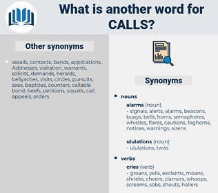 calls, synonym calls, another word for calls, words like calls, thesaurus calls