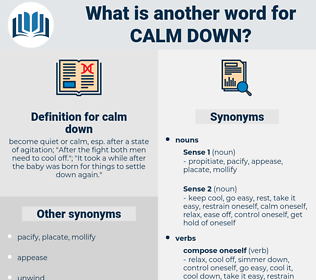 calm down, synonym calm down, another word for calm down, words like calm down, thesaurus calm down
