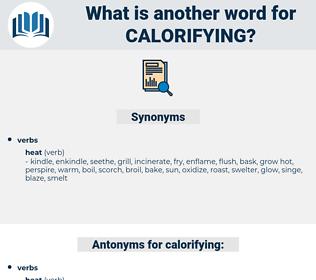 calorifying, synonym calorifying, another word for calorifying, words like calorifying, thesaurus calorifying