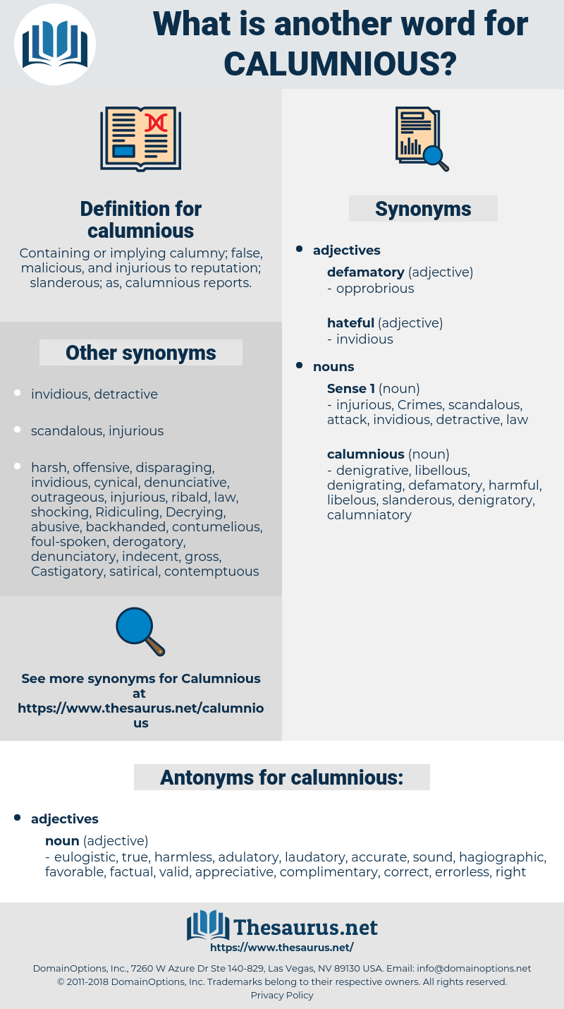 calumnious, synonym calumnious, another word for calumnious, words like calumnious, thesaurus calumnious