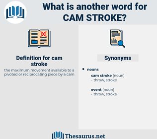 cam stroke, synonym cam stroke, another word for cam stroke, words like cam stroke, thesaurus cam stroke