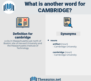 cambridge, synonym cambridge, another word for cambridge, words like cambridge, thesaurus cambridge