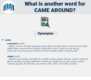 came around, synonym came around, another word for came around, words like came around, thesaurus came around