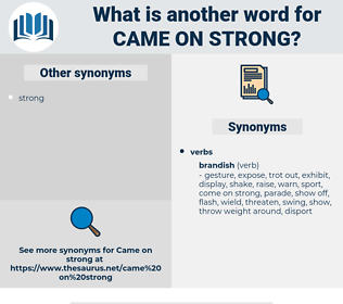 came on strong, synonym came on strong, another word for came on strong, words like came on strong, thesaurus came on strong