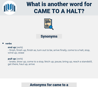 came to a halt, synonym came to a halt, another word for came to a halt, words like came to a halt, thesaurus came to a halt