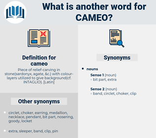 cameo, synonym cameo, another word for cameo, words like cameo, thesaurus cameo