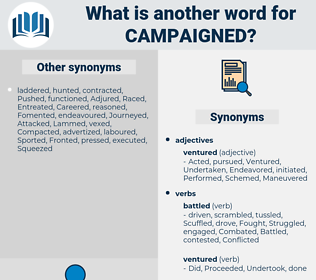 campaigned, synonym campaigned, another word for campaigned, words like campaigned, thesaurus campaigned