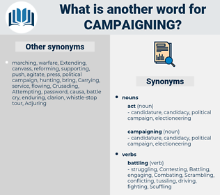 campaigning, synonym campaigning, another word for campaigning, words like campaigning, thesaurus campaigning