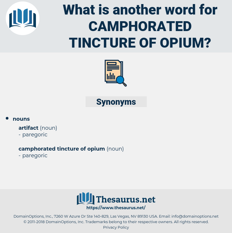 camphorated tincture of opium, synonym camphorated tincture of opium, another word for camphorated tincture of opium, words like camphorated tincture of opium, thesaurus camphorated tincture of opium