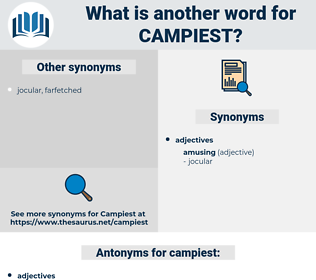 campiest, synonym campiest, another word for campiest, words like campiest, thesaurus campiest