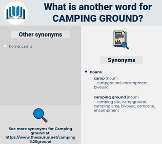 camping ground, synonym camping ground, another word for camping ground, words like camping ground, thesaurus camping ground