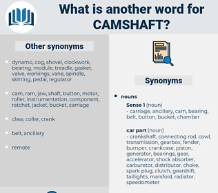 camshaft, synonym camshaft, another word for camshaft, words like camshaft, thesaurus camshaft