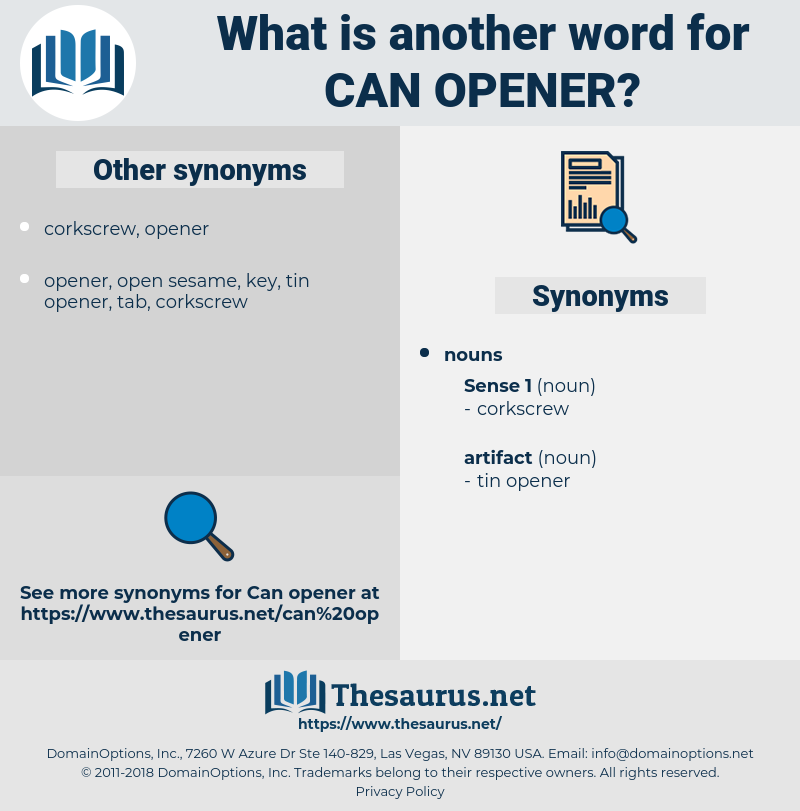 can opener, synonym can opener, another word for can opener, words like can opener, thesaurus can opener