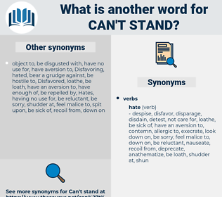 can't stand, synonym can't stand, another word for can't stand, words like can't stand, thesaurus can't stand