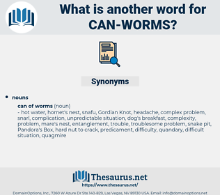 can worms, synonym can worms, another word for can worms, words like can worms, thesaurus can worms