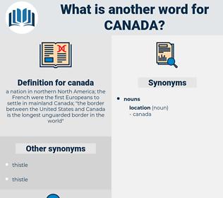 canada, synonym canada, another word for canada, words like canada, thesaurus canada