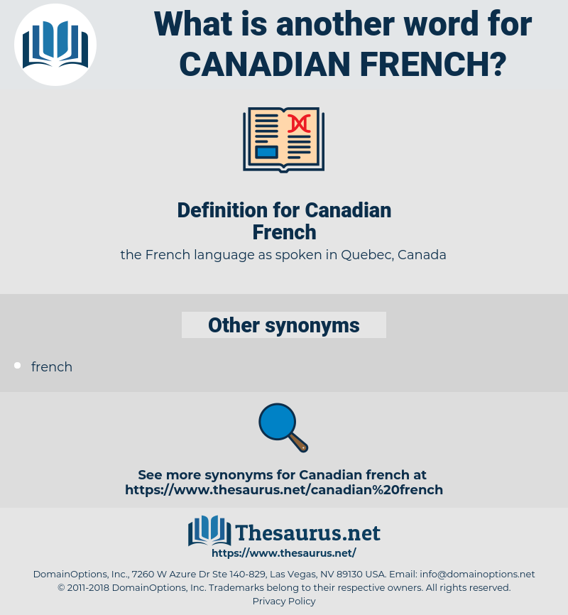 Canadian French, synonym Canadian French, another word for Canadian French, words like Canadian French, thesaurus Canadian French