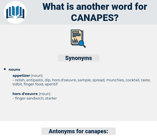 canapes, synonym canapes, another word for canapes, words like canapes, thesaurus canapes