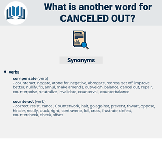 canceled out, synonym canceled out, another word for canceled out, words like canceled out, thesaurus canceled out