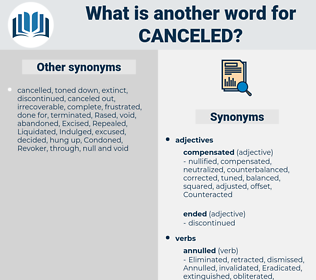 Canceled, synonym Canceled, another word for Canceled, words like Canceled, thesaurus Canceled