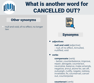 cancelled out, synonym cancelled out, another word for cancelled out, words like cancelled out, thesaurus cancelled out