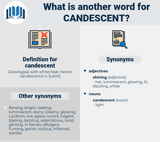 candescent, synonym candescent, another word for candescent, words like candescent, thesaurus candescent