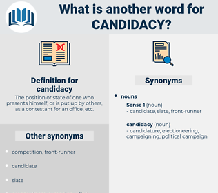 candidacy, synonym candidacy, another word for candidacy, words like candidacy, thesaurus candidacy