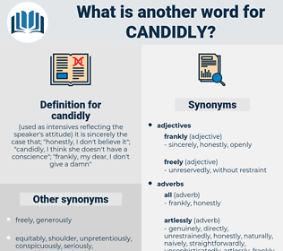 candidly, synonym candidly, another word for candidly, words like candidly, thesaurus candidly