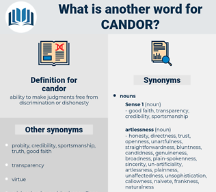 candor, synonym candor, another word for candor, words like candor, thesaurus candor