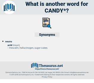 candy, synonym candy, another word for candy, words like candy, thesaurus candy