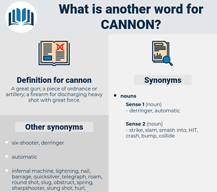 cannon, synonym cannon, another word for cannon, words like cannon, thesaurus cannon