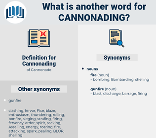 Cannonading, synonym Cannonading, another word for Cannonading, words like Cannonading, thesaurus Cannonading