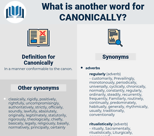 Canonically, synonym Canonically, another word for Canonically, words like Canonically, thesaurus Canonically