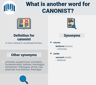 canonist, synonym canonist, another word for canonist, words like canonist, thesaurus canonist
