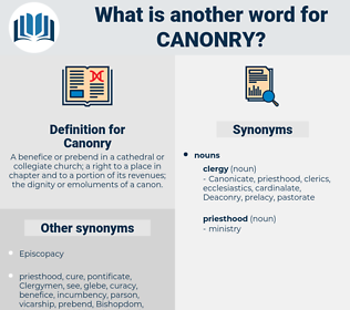 Canonry, synonym Canonry, another word for Canonry, words like Canonry, thesaurus Canonry