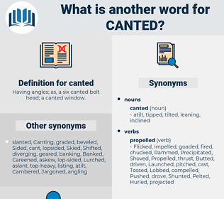 canted, synonym canted, another word for canted, words like canted, thesaurus canted