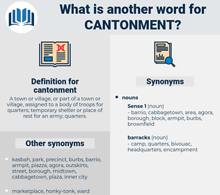 cantonment, synonym cantonment, another word for cantonment, words like cantonment, thesaurus cantonment