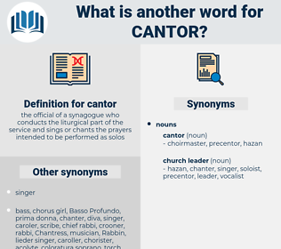 cantor, synonym cantor, another word for cantor, words like cantor, thesaurus cantor
